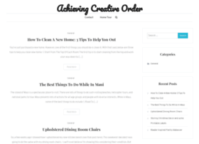 achievingcreativeorder.com