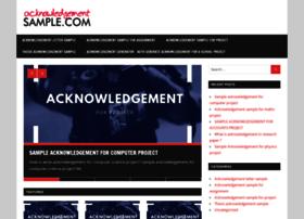 acknowledgementsample.com