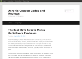 acroniscoupons.blog.com