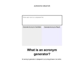 acronymcreator.net