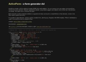 activeform.rubyforge.org