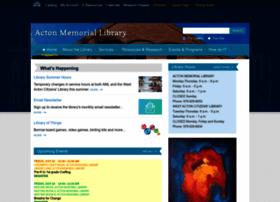 actonmemoriallibrary.org