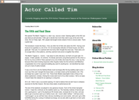 actorcalledtim.blogspot.com