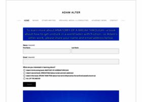 adamalterauthor.com