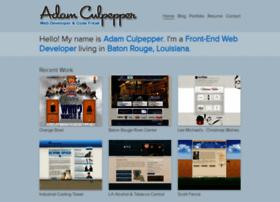 adamculpepper.net