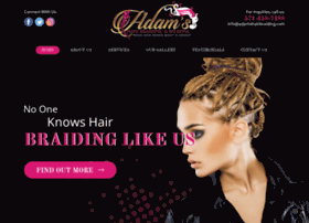 adamshairbraiding.com