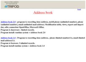 addressbook20.tripod.com