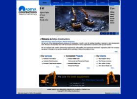 adityaconstructions.co.in