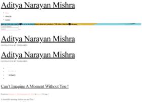 adityanarayanmishra.com