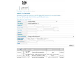 administrativeappeals.decisions.tribunals.gov.uk