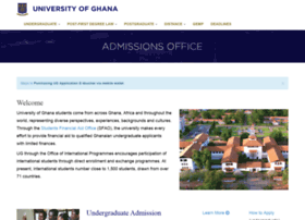 Admission.ug.edu.gh