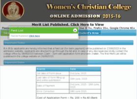 admission.womenschristiancollege.net