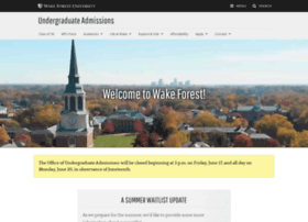 admissions.wfu.edu