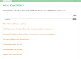 admitcardnews.in