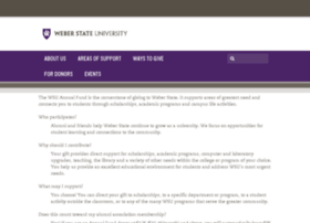 advancement.weber.edu