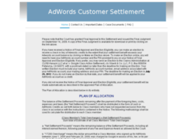 adwordscustomersettlement.com