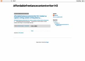 affordablecontentwriter143.blogspot.in