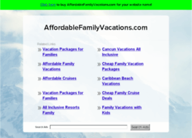 affordablefamilyvacations.com