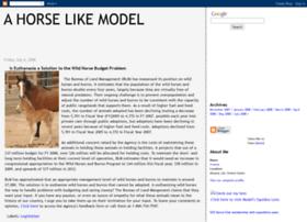 ahorselikemodel.blogspot.com