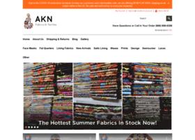 aknfabricsandtextiles.com