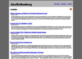 alexrothenberg.com