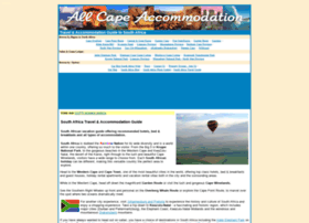 allcapeaccommodation.com