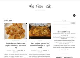 alliefoodtalk.com