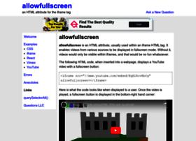 allowfullscreen.com