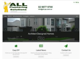 allplasteringsolutions.com.au