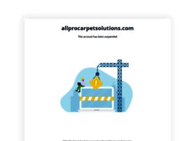 allprocarpetsolutions.com