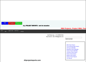 allprojectreports.com