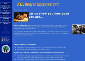 allwriteresumes.com