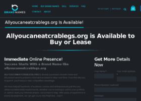 allyoucaneatcrablegs.org