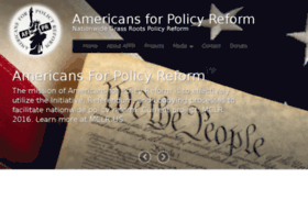 americansforpolicyreform.com