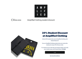 amplifiedclothing.studentbeans.com