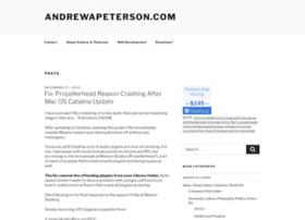 andrewapeterson.com