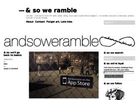 andsoweramble.net