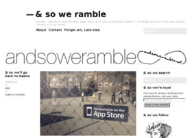 andsoweramble.net