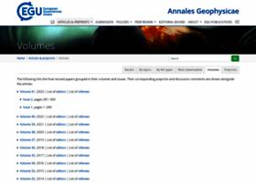 ann-geophys.net