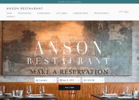 ansonrestaurant.com