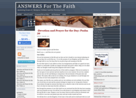 answersforthefaith.com