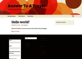 answertoaprayer.com
