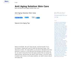 anti-aging-solution-skin-care.healthnutritionsupplements.net