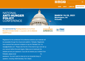 antihungerpolicyconference.org