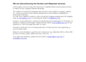 anubis.iseclab.org