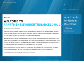 apartmentsforrentinbarcelona.com