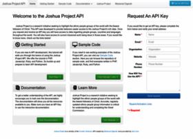 api.joshuaproject.net