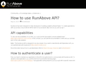 api.runabove.com