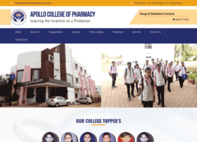 apollocollegeofpharmacy.com