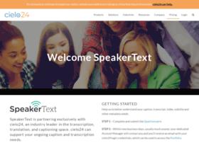 app.speakertext.com